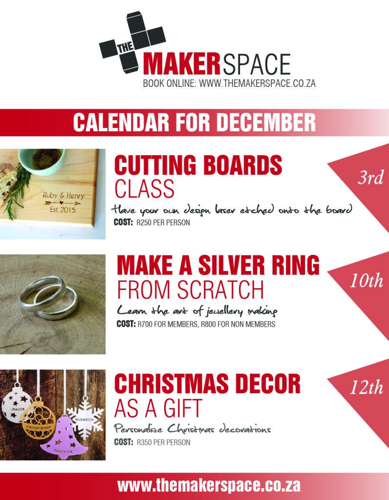 Maker Calendar for December-01