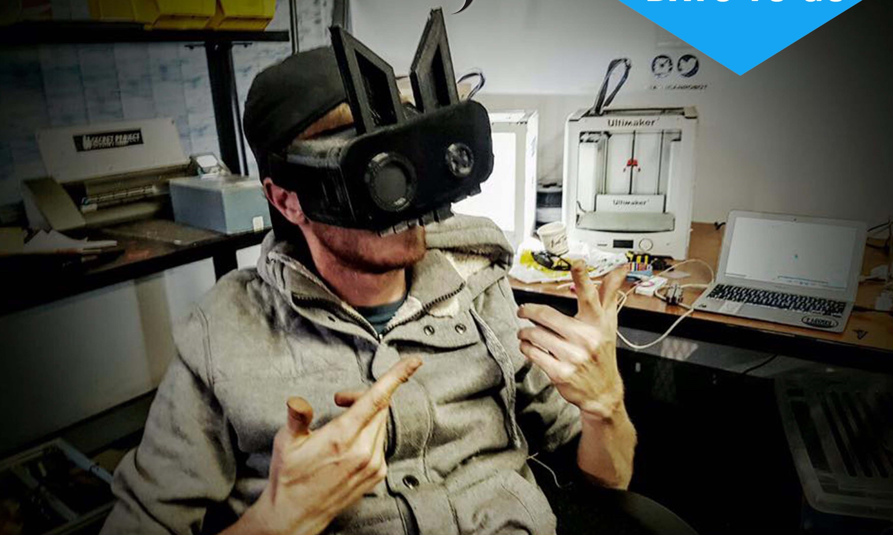 african robot crazy 3D printing skills meet VR